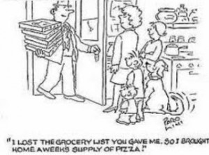grocery cartoon